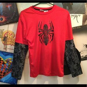 MARVEL SPIDERMAN LONG SLEEVE T SHIRT XL